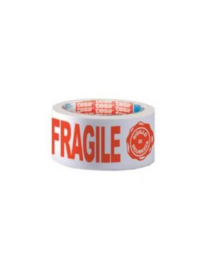 Nastro adesivo ppl 66mtx50mm fragile con sigillo sicurezza 7024 tesa 07024-00018-03_51414