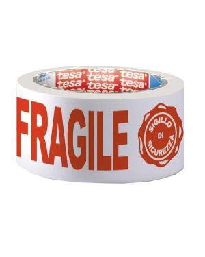 Nastro adesivo ppl 66mtx50mm fragile con sigillo sicurezza 7024 tesa 07024-00018-03 3760028770299 07024-00018-03_51414 by Tesa