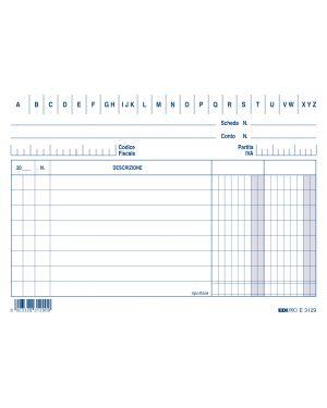100 schede 2 colonne orizzontale 10.5x15cm e3129bl edipro E3129BL 8023328312916 E3129BL_52089