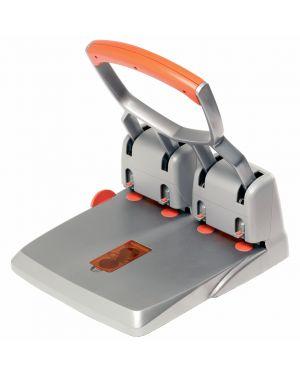 Perforatore 4 fori passo 80 max 150fg rapid hdc150/4 grigio/arancio 23223100_53165 by Esselte