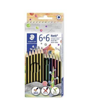 Matita 6 in grafite e 6 colorat Staedtler 61C12P 4007817033708 61C12P