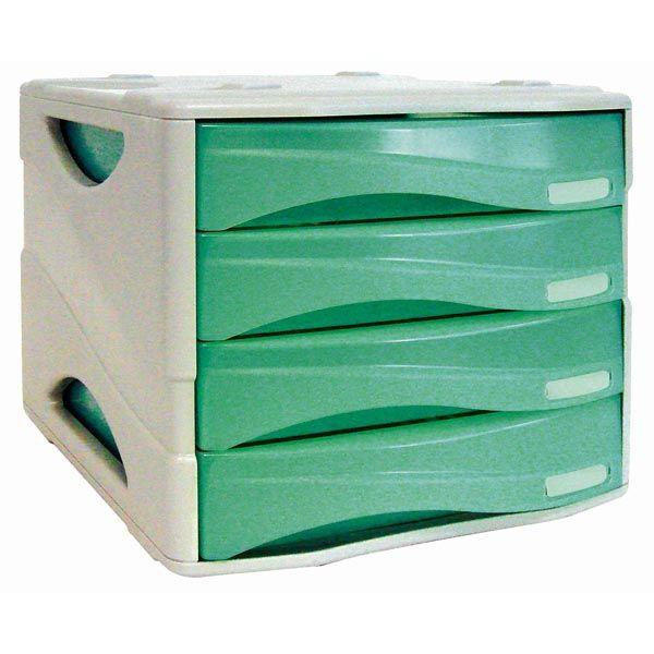 Cassettiera 4 cass. smile verde trasp. arda TR15P4PV 8003438005182 TR15P4PV_53990 by Arda