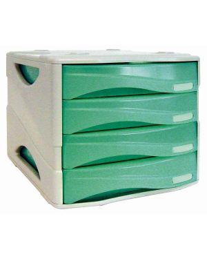 Cassettiera 4 cass. smile verde trasp. arda TR15P4PV 8003438005182 TR15P4PV_53990 by Esselte