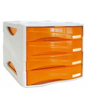 Cassettiera 4 cass. smile arancio trasp. arda TR15P4PAR 8003438005199 TR15P4PAR_53991 by Esselte