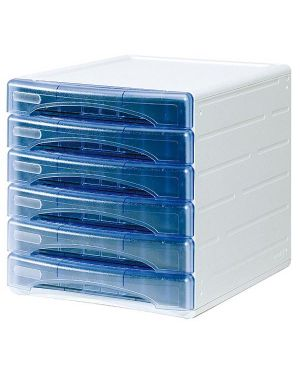 Cassettiera 6 cass. olivia azzurro trasp. arda TR13G6PBL 53992 A TR13G6PBL_53992 by Arda