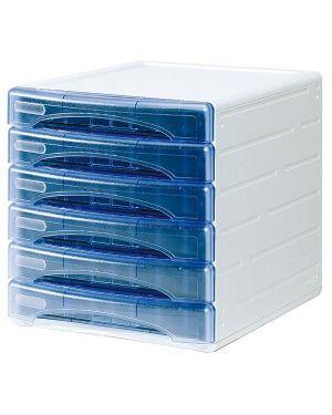 Cassettiera 6 cass. olivia azzurro trasp. arda TR13G6PBL 8003438724069 TR13G6PBL_53992 by Esselte