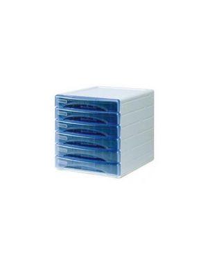 Cassettiera 6 cass. Olivia azzurro trasp. Arda TR13G6PBL_53992 by Arda