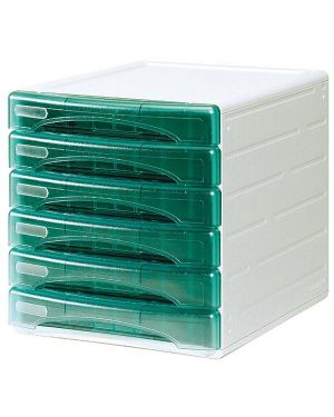 Cassettiera 6 cass. olivia verde trasp. arda TR13G6PV 8003438723499 TR13G6PV_53993 by Arda