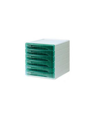 Cassettiera 6 cass. olivia verde trasp. ard TR13G6PV_53993