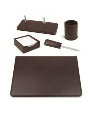 Set scrivania 5 pezzi marrone Niji 60269 8002787602691 60269