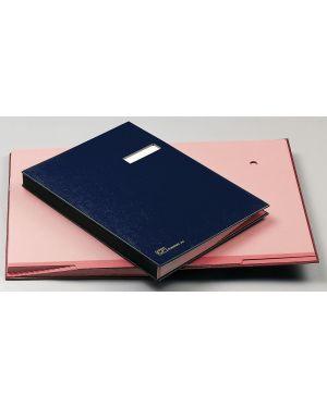 Libro firma c - portaetichetta 18 pagine 24x34cm blu 618-d fraschini 618D-BLU 8027032009049 618D-BLU_56603