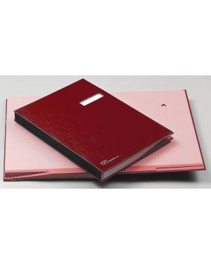 Libro firma c - portaetichetta 18 pagine 24x34cm rosso 618-d fraschini 618D-ROSSO 8027032009018 618D-ROSSO_56604