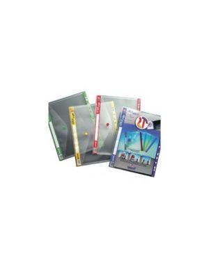 5 buste forate c/bottone click'n file giallo ar22 tecnostyl AR224_56683