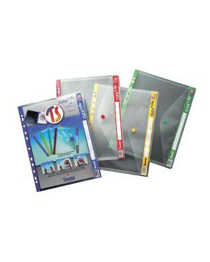 5 buste forate c - bottone click'n file giallo ar22 tecnostyl AR224 8010026002171 AR224_56683