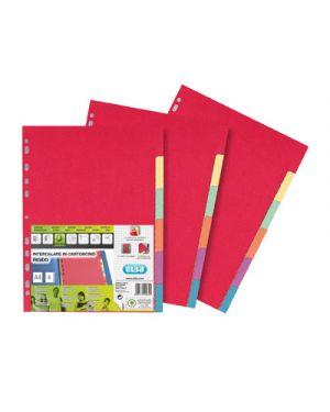 Intercalare in cartoncino colorato riciclato 6 tasti a4 ELBA 100204883 8006779199305 100204883_56711