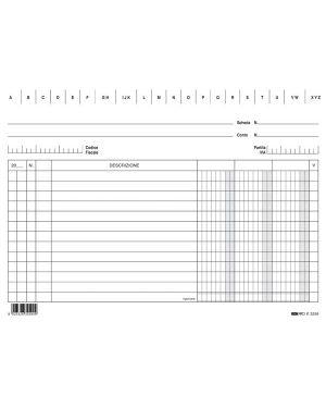 100 schede 3 colonne orizzontale 15x21cm e3259 edipro E3259BL 8023328325916 E3259BL_56802 by Edipro