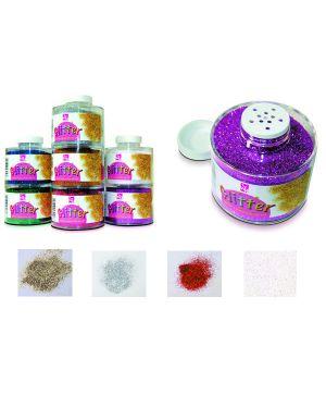 Barattolo glitter grana fine ml150 bianco - iride art 130 - 100 cwr 130/100/8 8004957071481 130/100/8_56818