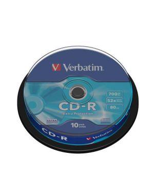 Cdr extra prot.700mb spindle 10pz s Verbatim 43437/10 23942434375 43437/10