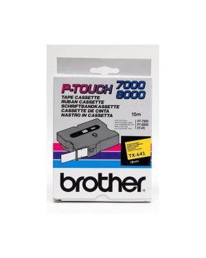 Nastro tipo tx 18mm nero - giallo Brother TX641 4977766051484 TX641