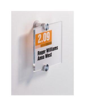 Targa per porte - pareti crystal sign 105x105mm durable 4820-19 4005546403533 4820-19_57344