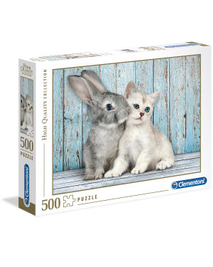 500pz-  cat bunny Clementoni 35004 8005125350049 35004 by No