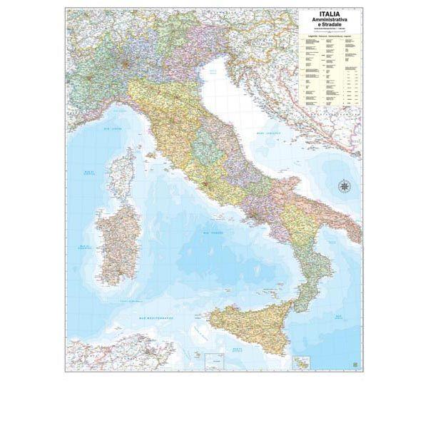 Cartina Geografica Italia Hd.Carta Geografica Murale Italia 97x122cm Belletti