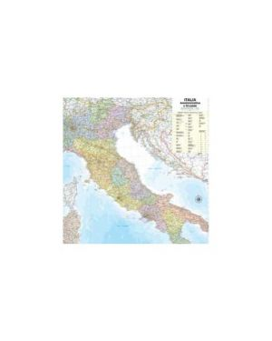 Carta geografica murale italia 97x122cm belletti M08PL/07_57413