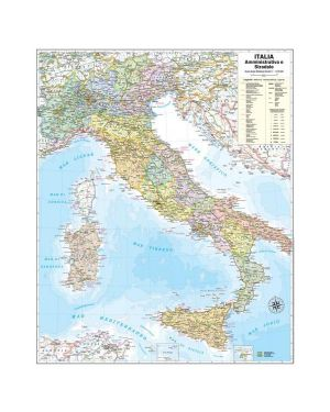 Carta geografica murale italia 67x85cm belletti M06PP/07 9788881465361 M06PP/07_57414 by Belletti