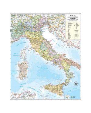 Carta geografica murale italia 67x85cm belletti M06PP/07 9788881465361 M06PP/07_57414