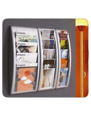 Espositore da parete a 5 tasche 1 - 3a4 grigio quick fit system K540625 3660141239652 K540625_57622 by Paperflow