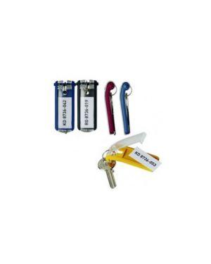 Scatola 6 portachiavi key clip giallo durable 1957-04_58026