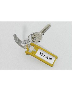 Scatola 6 portachiavi key clip giallo durable 1957-04 4005546103822 1957-04_58026