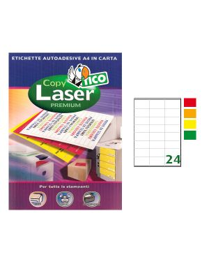 Etichetta adesiva lp4f arancio fluo 70fg a4 70x36mm (24et - fg) tico LP4FA-7036 8007827270120 LP4FA-7036_58404