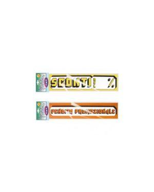 Busta 4 striscioni maxi 'sconti del...' 23x100cm cwr 06113_58482