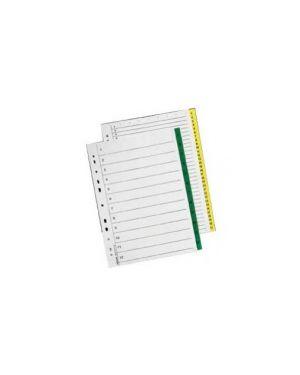 Separatore numerico 1 12 tasti verdi 22,5x29,7cm esselte Confezione da 10 pezzi 698730_59034