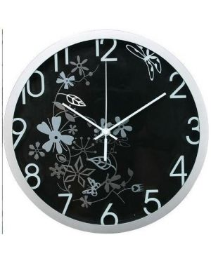 Orologio da parete Ø 30,5cm flowers nero methodo V150401 8018727140017 V150401_60976 by Methodo