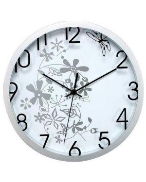 Orologio da parete Ø 30,5cm flowers bianco methodo V150403 8018727504031 V150403_60977