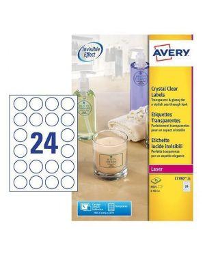 Etichette lucide inv. diam. 40 mm Avery L7780-25 4004182252628 L7780-25