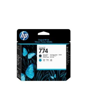 Hp 774 matte black - cyan printhead HP Inc P2W01A 192018596955 P2W01A