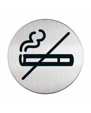 Pittogramma Ø 8,3cm 'zona non fumatori' in acciaio 4911-23 4005546400204 4911-23_61381 by Durable
