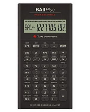 Ba ii plus professional Texas Instruments BAIIPLUSPROF 3243480015172 BAIIPLUSPROF by No