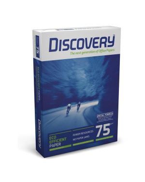 Carta bianca discovery 75 a4 75gr 500fg CONFEZIONE DA 5 Discovery75A4_61534 by Esselte