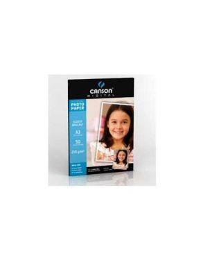 Carta inkjet a3 210gr 50fg photo glossy performance canson 200004326_61665