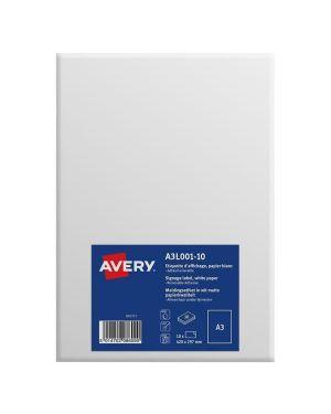 Etichette a3 carta bianca rim. 10ff Avery A3L002-10 5014702086106 A3L002-10