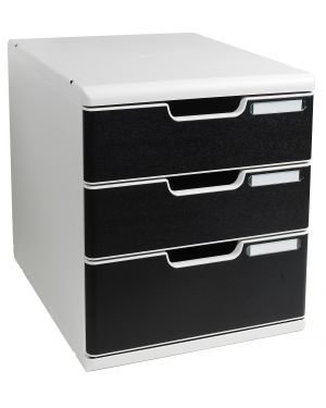 Cassettiera modulo a4 3 cassetti grigio - nero multiform 325014D 9002493421882 325014D_61954
