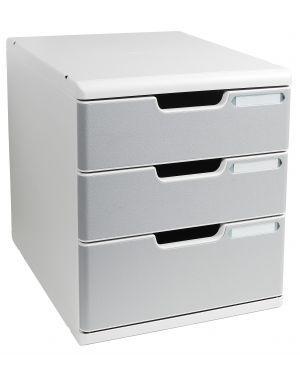 Cassettiera modulo a4 3 cassetti grigio - granito multiform 325041D 9002493422377 325041D_61955