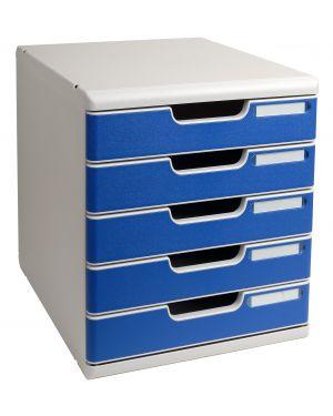 Cassettiera modulo a4 5 cassetti grigio - blu multiform 301003D 9002493023895 301003D_61956