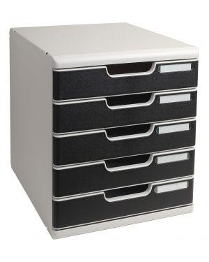 Cassettiera modulo a4 5 cassetti grigio - nero multiform 301014D 9002493023932 301014D_61957