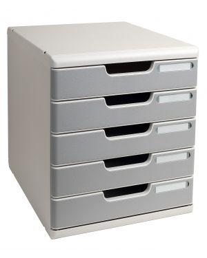 Cassettiera modulo a4 5 cassetti grigio - granito multiform 301041D 9002493023918 301041D_61958