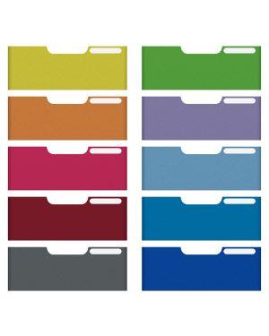 Set 10 frontalini colorati per cassetti 5,4cm modulo a4 multiform 336999D 9002493427297 336999D_61965